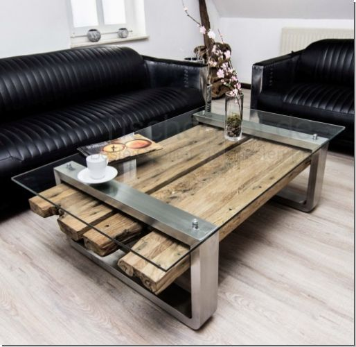 Coffee Table Teak Old Wood Holz Tisch Coffee Holz Table
