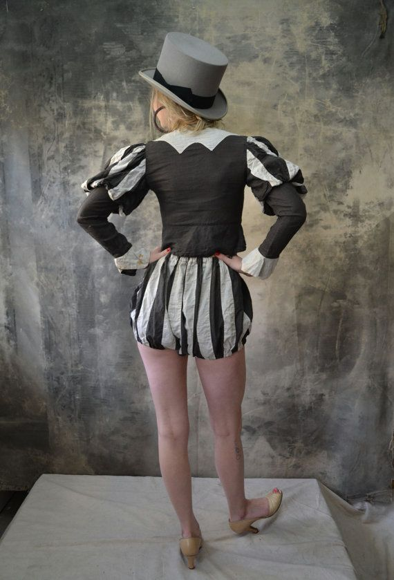 1930s Striped Jester Costume by Petrune on Etsy, $125.00
