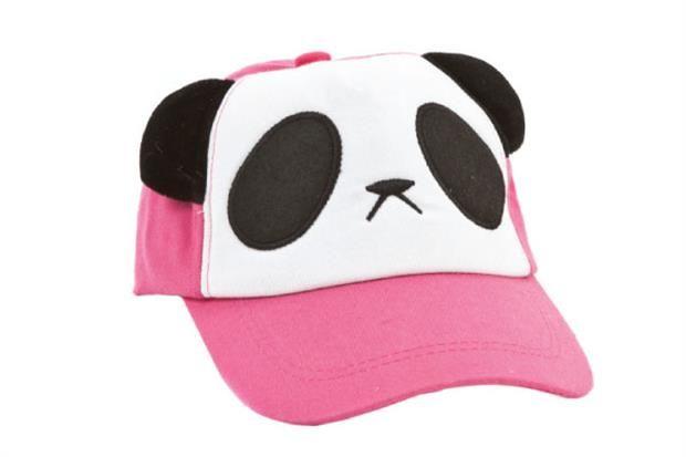 Gorra rosa con panda y orejitas