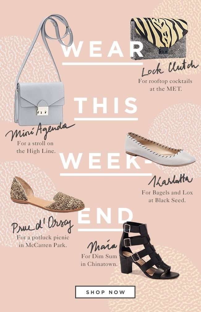 The Wear All Weekend Edit Of Shoes And Handbags At Official Loeffler Randall Online Loefflerrandall Bags Layout Ideas Email