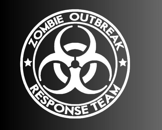 Custom Car decal Zombie outbreak by CustomizingYourWay on Etsy https://www.etsy.com/listing/194834534/custom-car-decal-zombie-outbreak