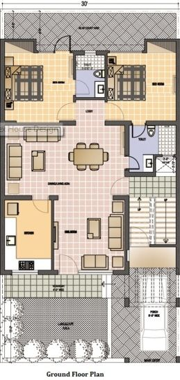 30*60 House Map