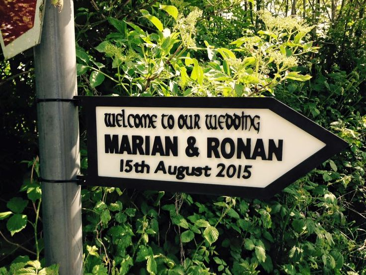 Personalised Wedding Road Sign