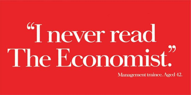 "Read more: https://www.luerzersarchive.com/en/magazine/print-detail/the-economist-38575.html The Economist First appeared in: 1989. On this and the following page, examples from the 80s and 90s of the celebrated and long-running ""white out of red"" campaign for ""The Economist."" (See the ""Publishers, Media"" category in this issue for a new ""supplementary"" Economist campaign that has just come out.) Tags: Abbott Mead Vickers (AMV) BBDO, London,Ronnie Brown,The Economist,David Abbott"