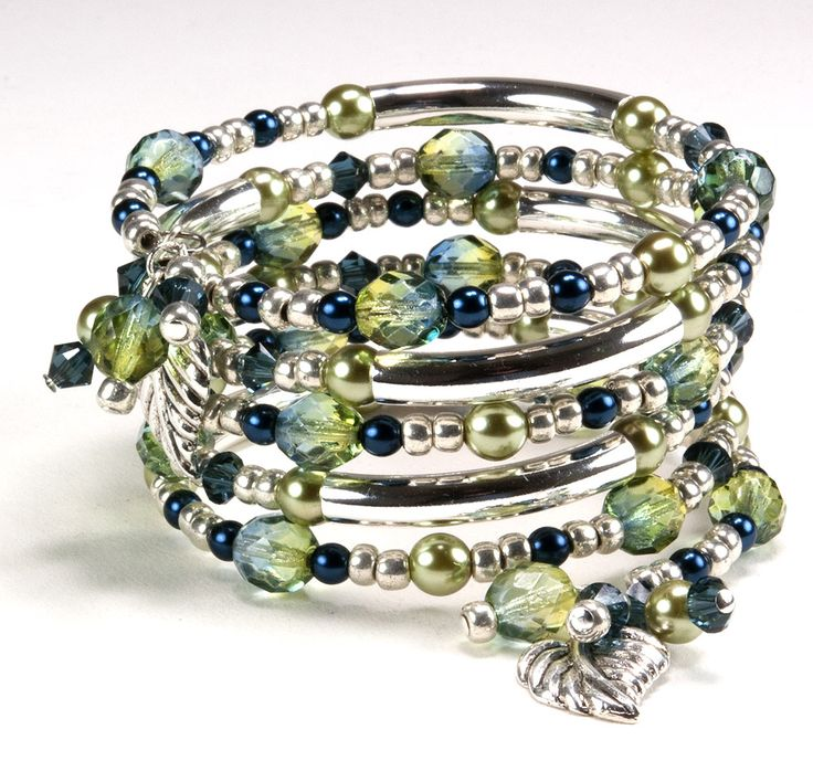 Tranquil Wishes Memory Wire Bracelet.  This turorial is on the bead website.  You can order them right there and the total for this idea with the original quantities is only $8.63!  You will even have left over beads and findings.