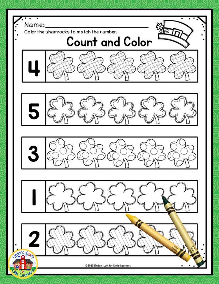 St. Patrick's Day Math Preschool Printables Preschool