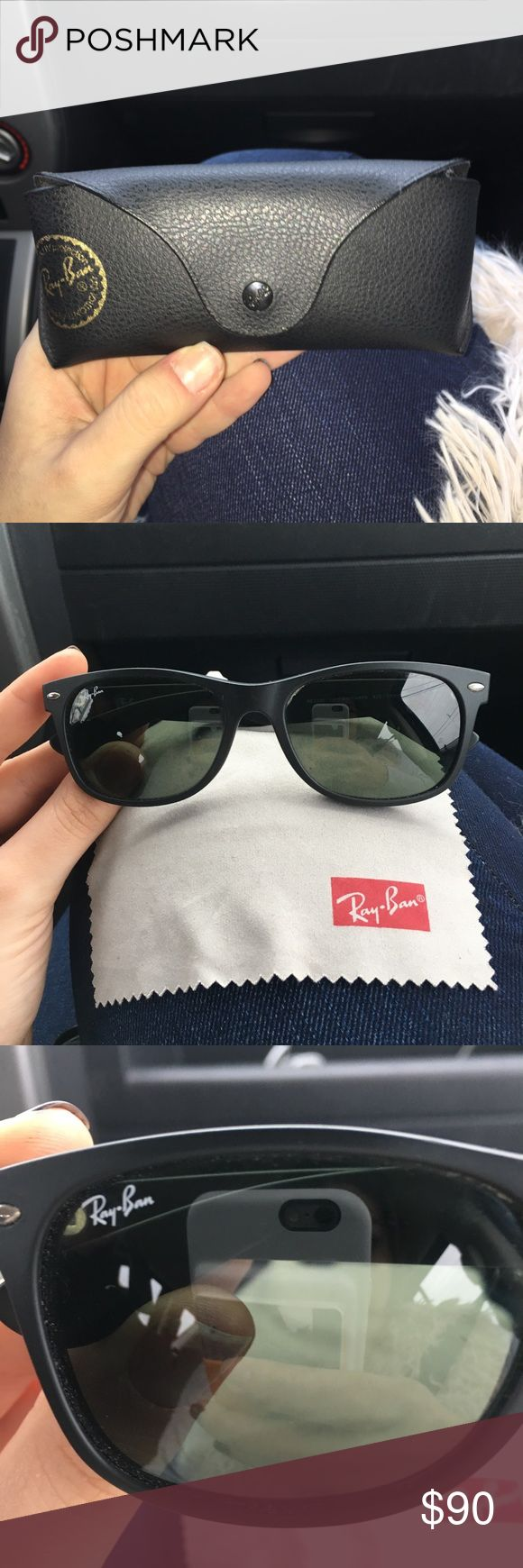 Ray bans Black matte, in great condition, wayfarer Ray-Ban Accessories Sunglasses