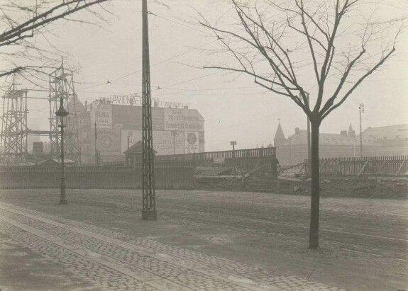 Forhøjelse af Vesterbrogade 1912. Foto W. Jørgensen