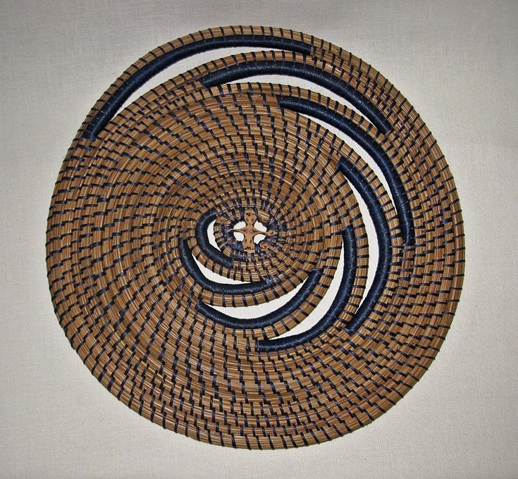 Blue Swirl Pine Needle wall decor