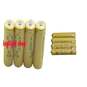 Mua Bộ 4 viên pin sạc AA 1,2V 700mAh + 4 viên pin đũa sạc AAA 1,2 V 300mAh chính hãng, giá tốt tại Lazada.vn, giao hàng tận nơi, với nhiều chương...
