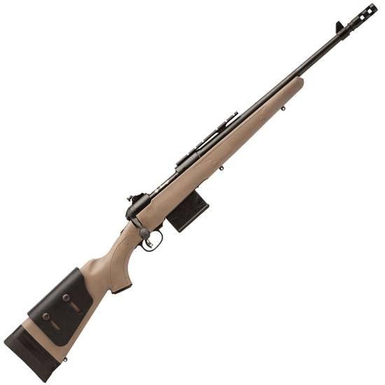 Savage Model 11 Scout Bolt Action Rifle .308 Winchester 18 Barrel 10 Rounds Muzzle Brake Flat Dark Earth Adjustable Synthetic Stock Optics Rail Matte Black 22443