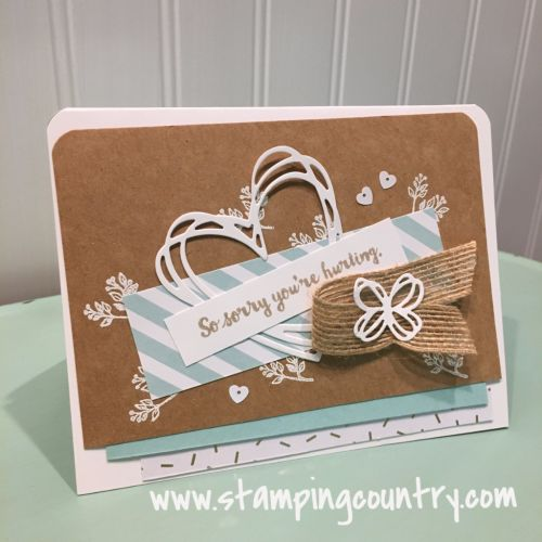 Here for You Sympathy Card, Sunshine Wishes, Stampin' Up! Cards