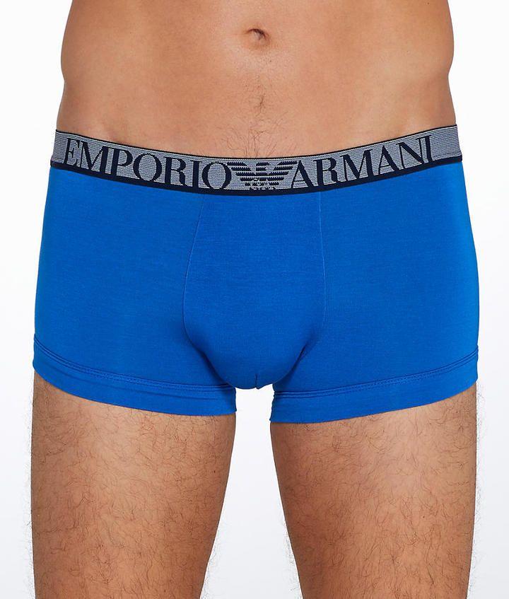Emporio Armani Stretch Modal Trunk Underwear - Men's #111389-7P511