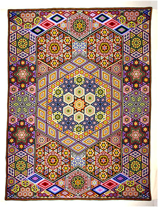 If you like quilts and/or history, have I found the site for you! While researching the Grandmother's Flower Garden quilt pattern, I came a...