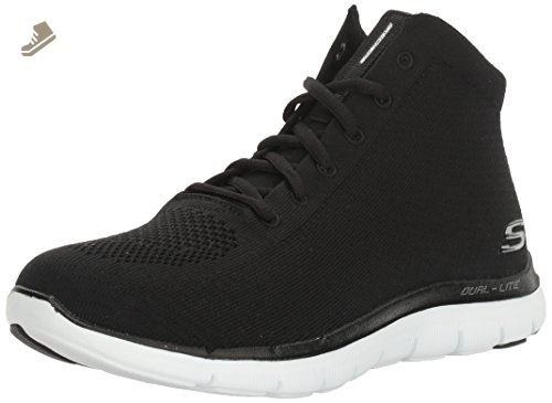 Ultra Flex-Bright Horizon, Formateurs Femme, Noir (Black/Grey), 41 EUSkechers