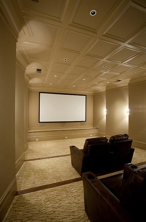 Masculine Interior Home Theatre New Home Reno Pinterest