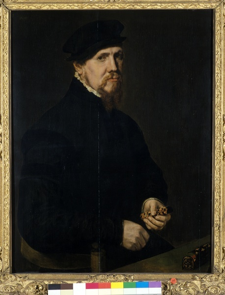 The Jeweler; Artist: Anthonis Mor; Date: c. 1549; currently in the collection of ??