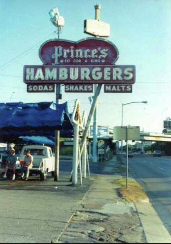 "By 1934, Prince's had expanded to Houston from Dallas and carhops had been added.  Food was served on a tray that was hung on the window of a customer's car. ""Our""  Prince's drive-in was located out South Main, right across from Stuart's Drive-in, and another one was located across from Sears on South Main.  Of course, they were all over town and one was still operating on the Gulf Freeway when I was in college and for long after that."