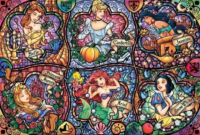 Alice in Wonderland Stained Glass Disney 026 Cross Stitch Kit