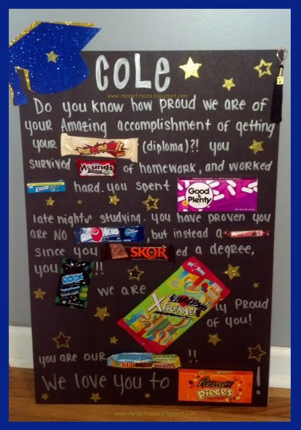 an awesome and easy gift for the graduate at the party! A DIY CANDY BOARD to tell a story and express how proud you are of them for graduating!