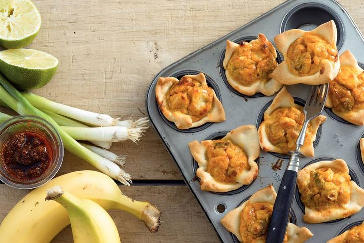 18 september - Banaan in de bonus - Mini-bladerdeegtaartjes met banaan - Recept - Allerhande