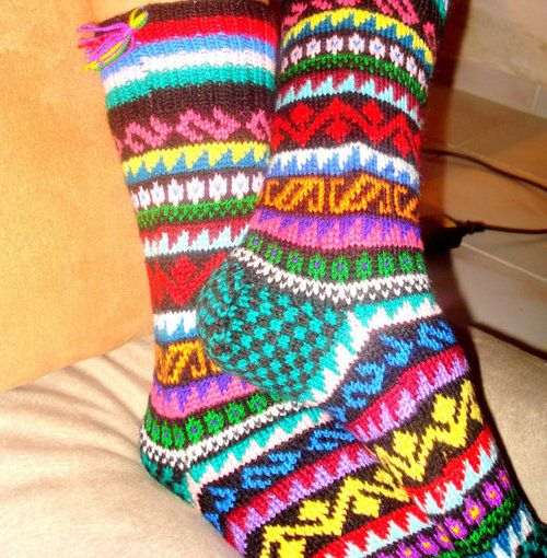 http://amzn.to/1zeBsVc , Free ShippingColorful HomeBoot Socks by RuveydaSweetDreams ✿  ☻ ✿  ✿