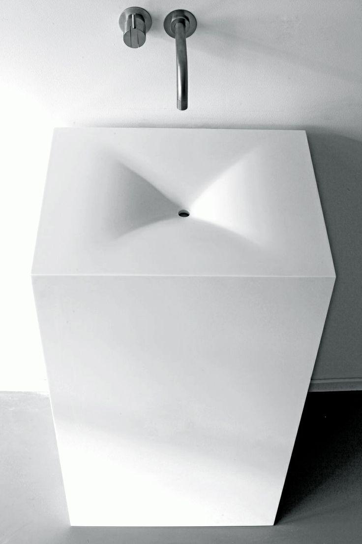 Marike Andeweg for NotOnlyWhite    MOSS washbasin in HI-MACS® Alpine White