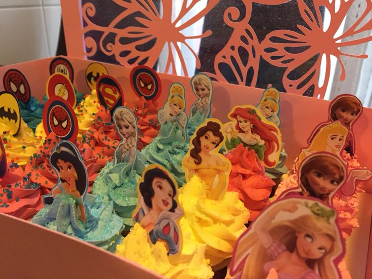 Mini cupcakes #disney #princess