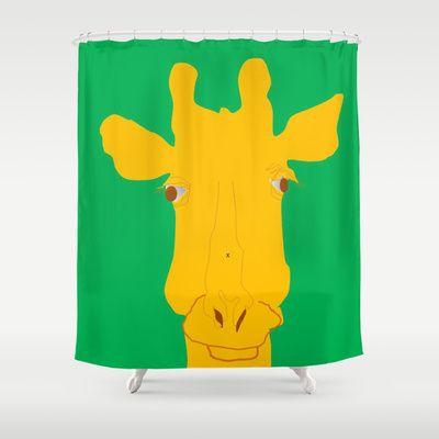 "giraffe face  by ALDO AAB Shower Curtain / 71"" by 74"" $68.00"