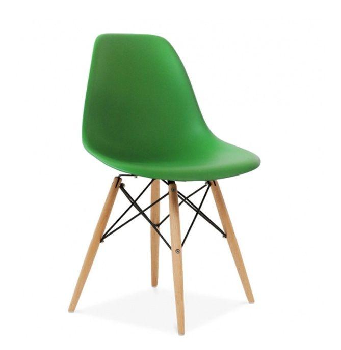 Стул дизайнерский EAMES-DSW-016 ярко-зеленый