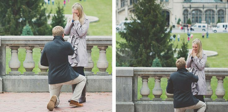 Surprise proposal pictures at the Biltmore Estate by Jason Hales Photography.