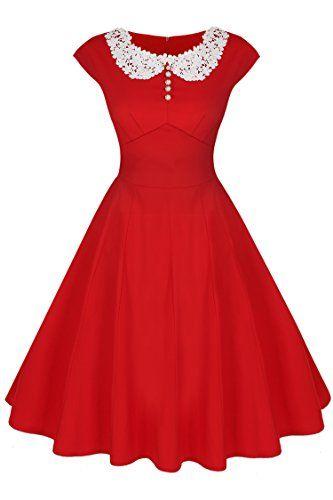 ACEVOG Women's Vintage Casual 1950'S Retro Dress ACEVOG https://www.amazon.com/gp/product/B015OMIYUQ/ref=as_li_qf_sp_asin_il_tl?ie=UTF8&tag=rockaclothsto-20&camp=1789&creative=9325&linkCode=as2&creativeASIN=B015OMIYUQ&linkId=bf9c49c55673f4b4abd9b31b5d794e2a
