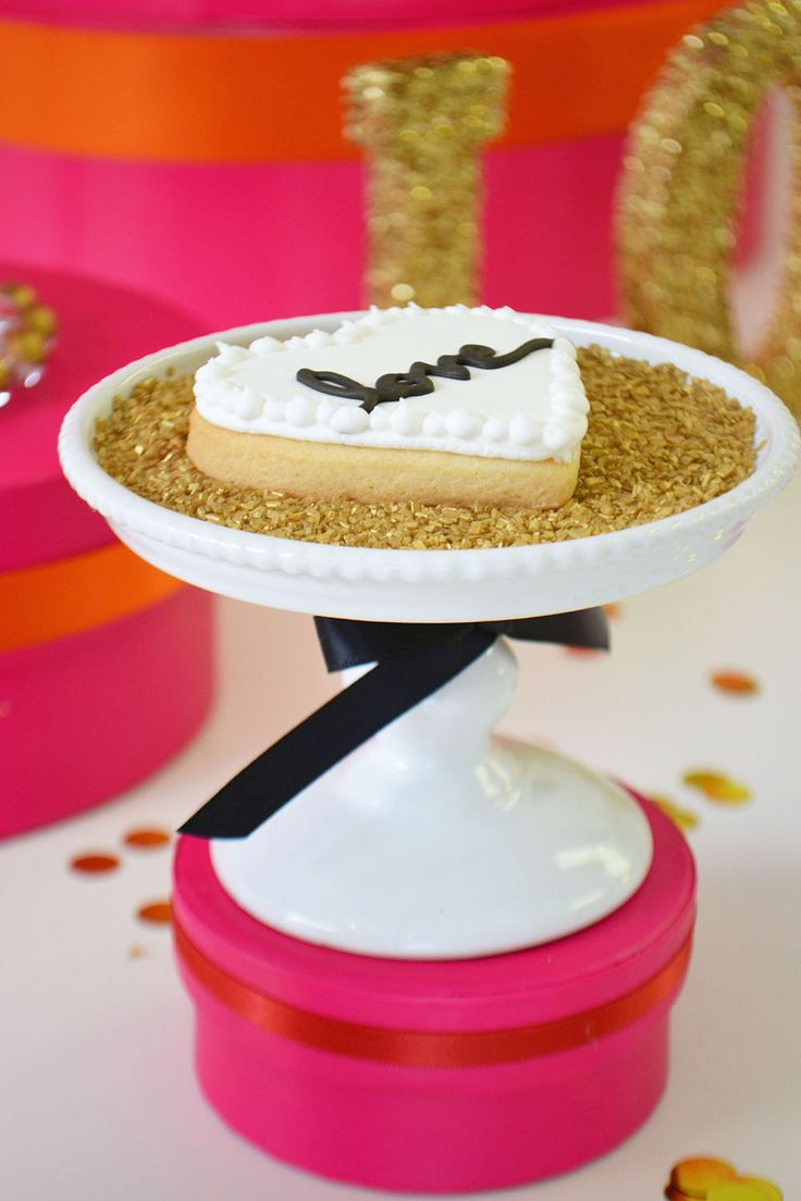 Black and white Love Heart Sugar Cookie by Bake Sale.