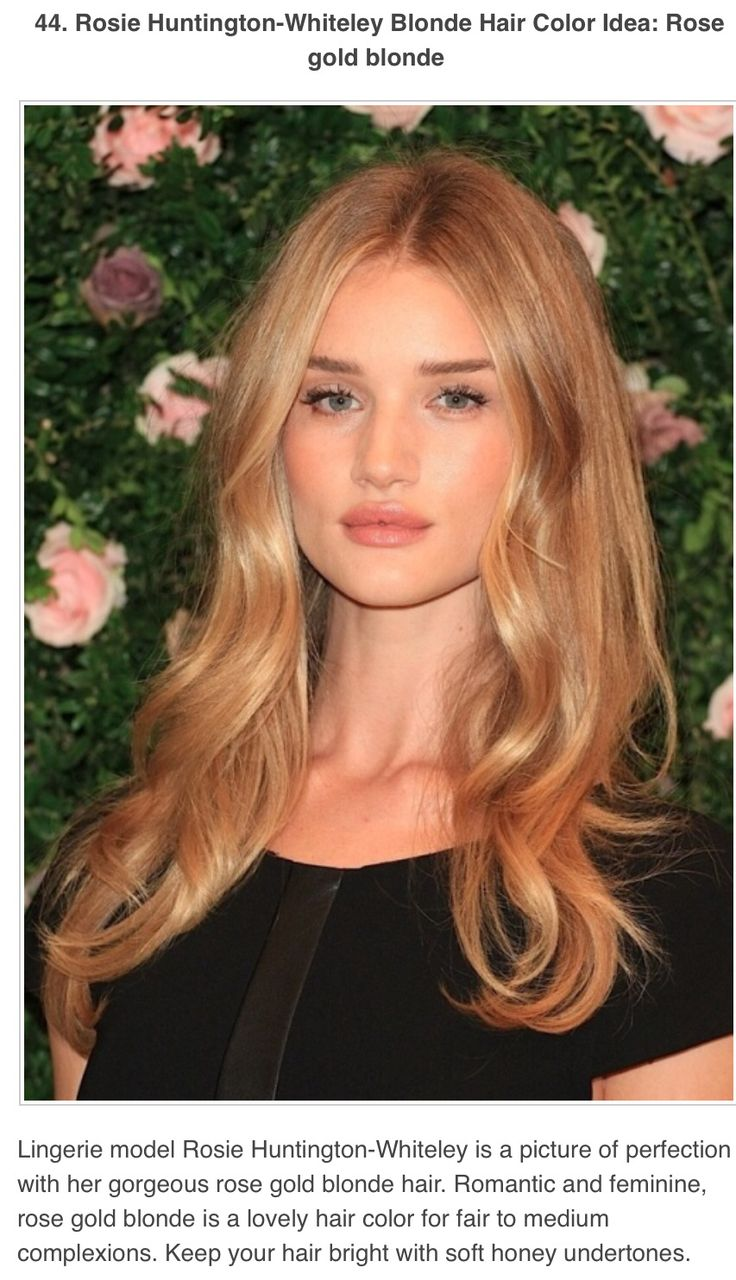 Love this rose gold blonde color!