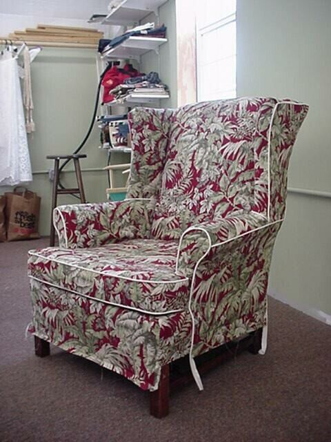 instant download wing chair slipcover