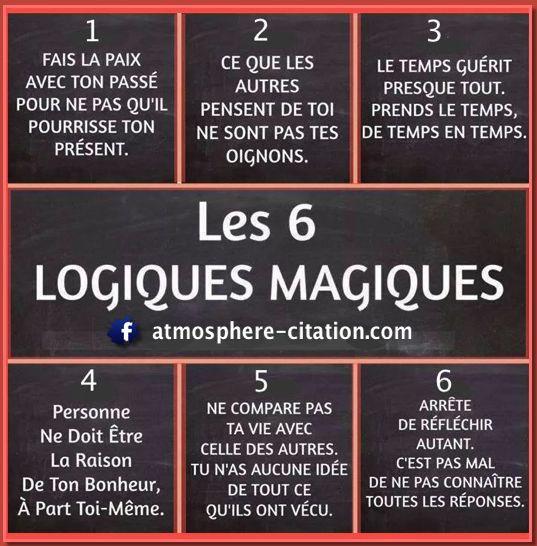 les 6 logiques magiques - Atmosphère Citation