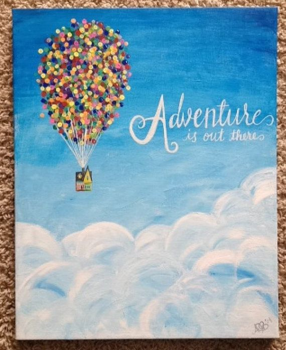 Vibrant Adventure is out there hand-painted by Fortheloveofcursive