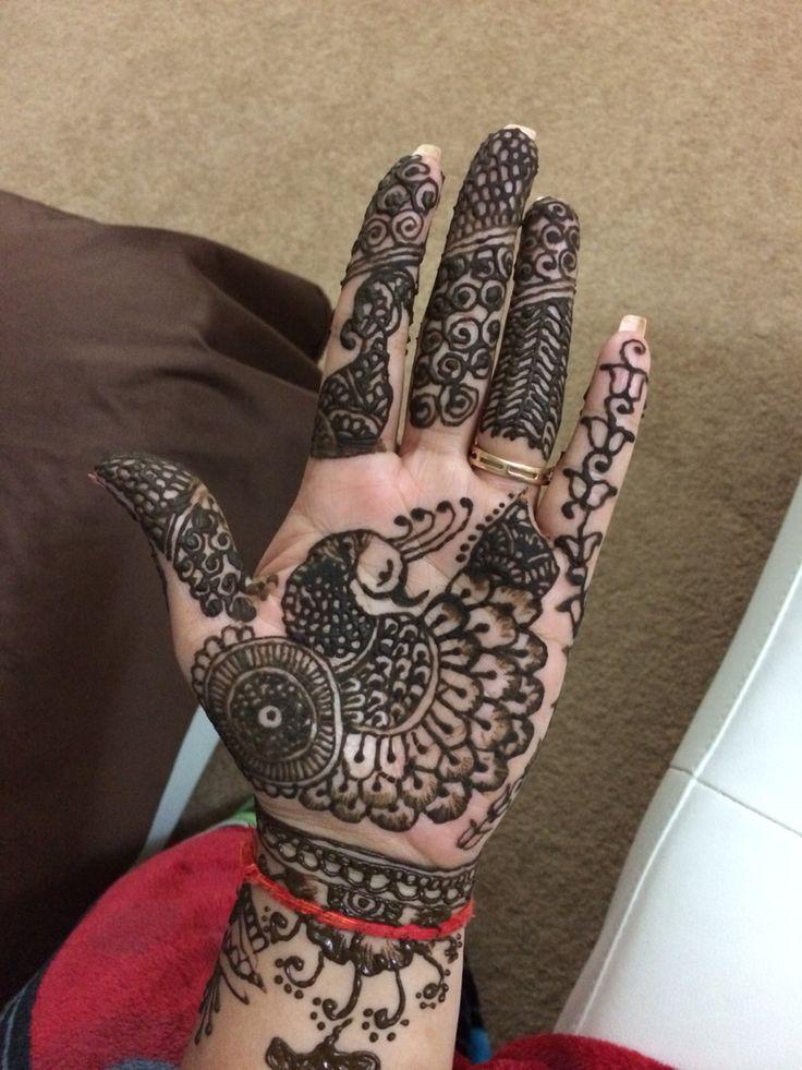 Lovely peacock henna design