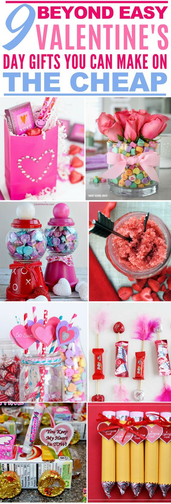 These 9 Valentine's Day Gifts Are The CUTEST! I love how easy they are to make too! Definitely saving for later. : )