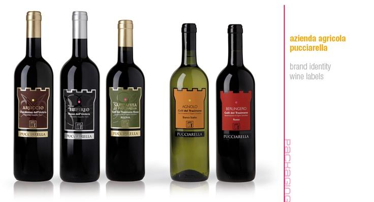 Azienda Agricola Pucciarella brand identity | wine labels design | packaging