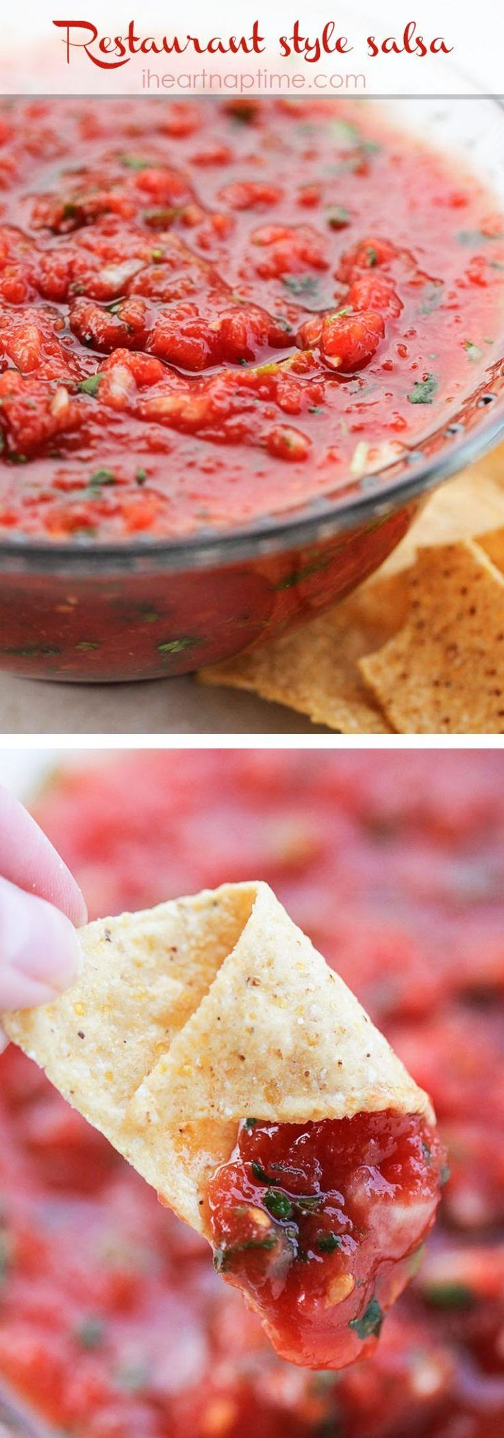 Homemade restaurant style salsa... the best recipe out there!