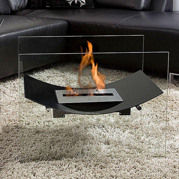VERY modern fireplace