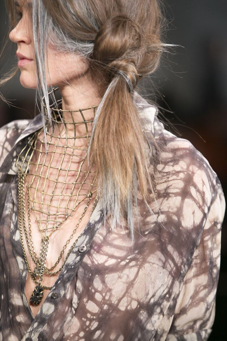 Breastplate necklace at fw2015 #NicholasK New York fashion week #NicholasKxHuntress