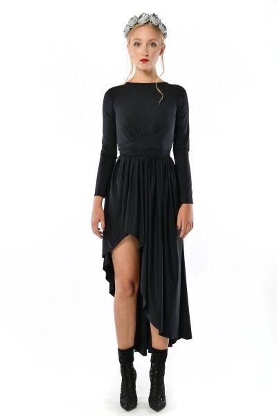 Cristina Patria Maxi Black: wysmuklająca czarna suknia