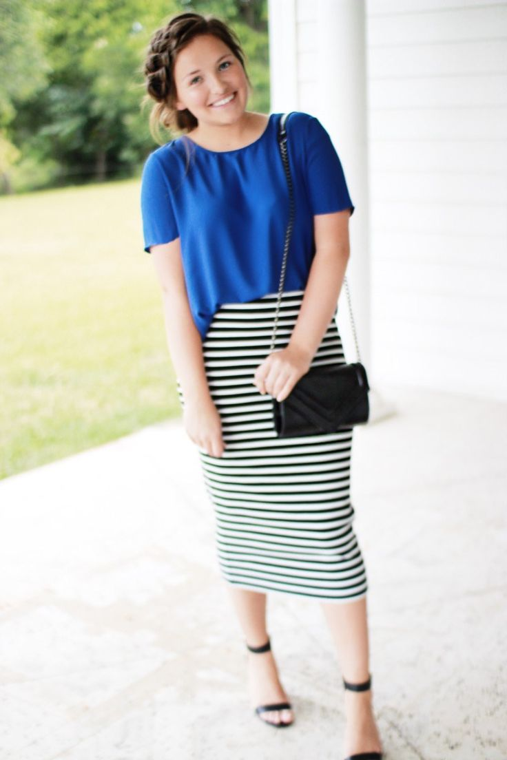 Royal Blue and Stripes | Courtney Toliver