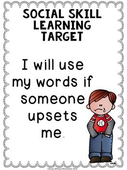 Social Skills Learning Targets FREE!