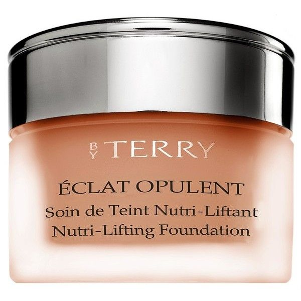 By Terry Eclat Opulent  NutriLifting Foundation ($155) ❤ liked on Polyvore featuring beauty products, makeup, face makeup, foundation, beauty, foundation & primer, pink, by terry, dry skin foundation and by terry foundation
