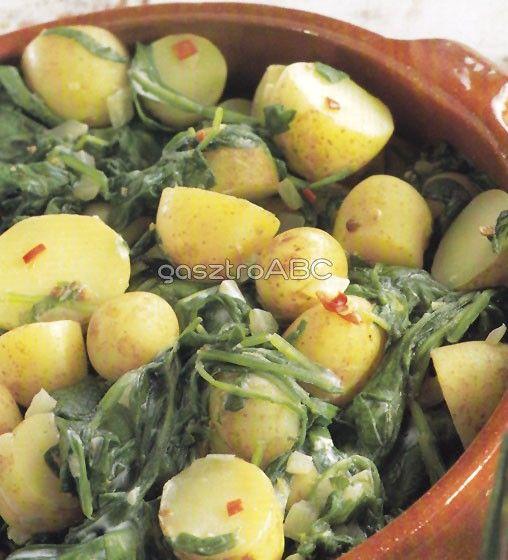Indiai spenótos burgonya | Receptek