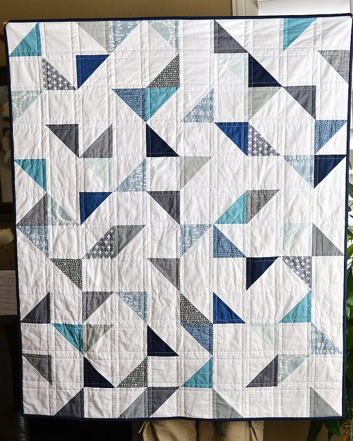 this is wonderful - may need to make a baby boy quilt soon - happy to find this! cloudy day baby quilt