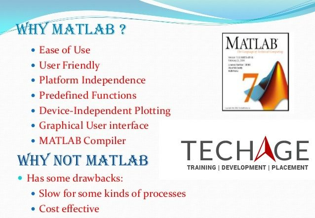 Join TechAge Academy for Matlabs Industrial Training in Noida.Project based matlab training,summer training,corporate training in noida, Delhi/NCR.Call for more details:+91-9212063532,+91-9212043532 Visit:http://www.techageacademy.com/courses/matlab-training